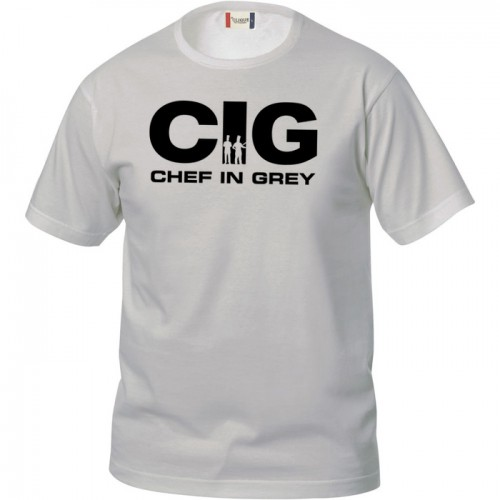 T-Shirt Manica Corta Chef in Grey