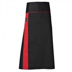 Grembiule Cuoco Alex Satin Nero/Rosso