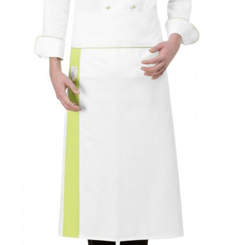 Grembiule Cuoco Alex Bianco/Pistacchio