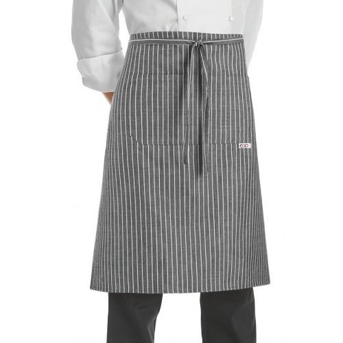 Grembiule Cuoco Vita Grey Stripe