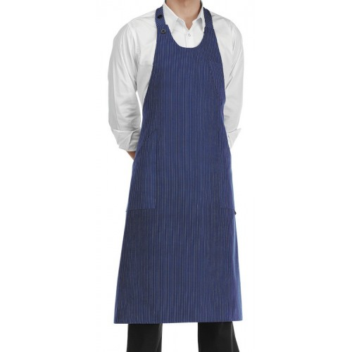Grembiule Bistrot Gessato Blu