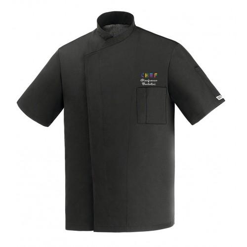 Giacca Cuoco Ottavio Nero Ultraleggera Expo Chef M/Corte