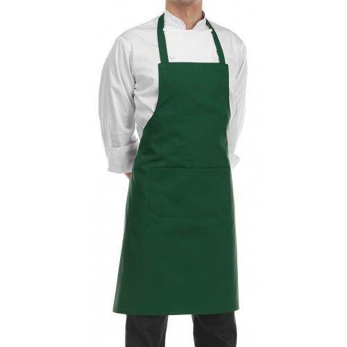 Grembiule Cuoco Pettorina Verde Bottiglia