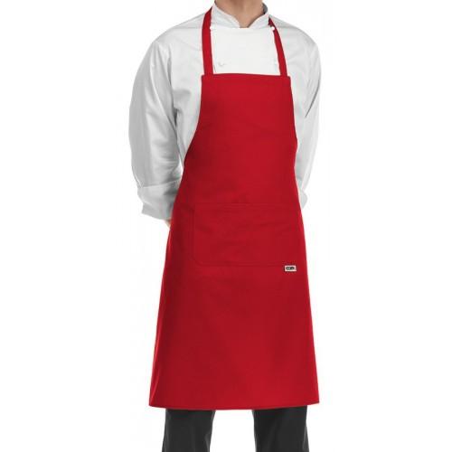 Grembiule Cuoco Pettorina Rosso
