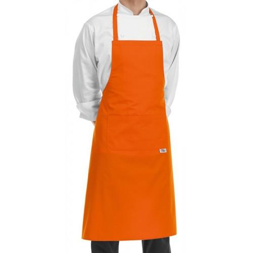 Grembiule Cuoco Pettorina Arancio