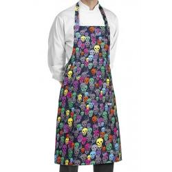 Grembiule Cuoco Pettorina Color Skulls