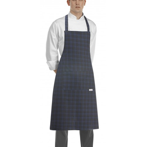 Grembiule Cuoco Pettorina Tartan