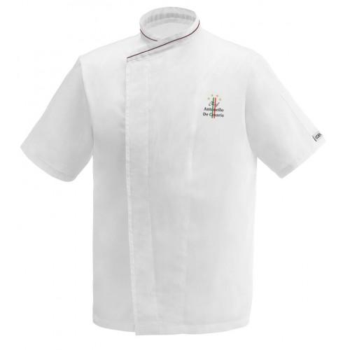 Giacca Cuoco Jack 4 Stelle Microfibra Manica Corta