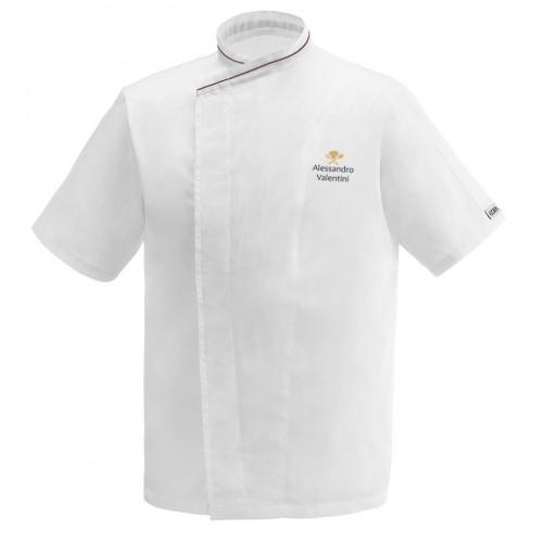 Giacca Cuoco Jack Simbolo Microfibra Manica Corta