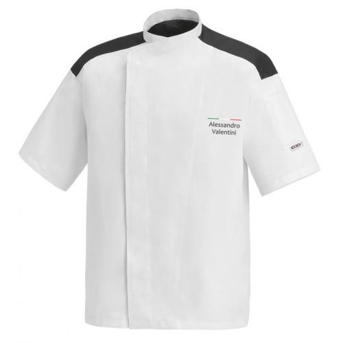 Giacca Cuoco First Chef Italia Microfibra M/Corte
