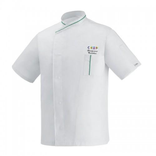 Giacca Cuoco White Eco Expo Chef M/Corte
