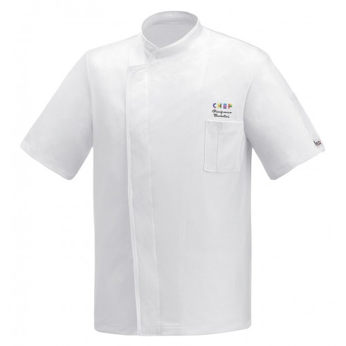 Giacca Cuoco White Air Plus Expo Chef M/Corte