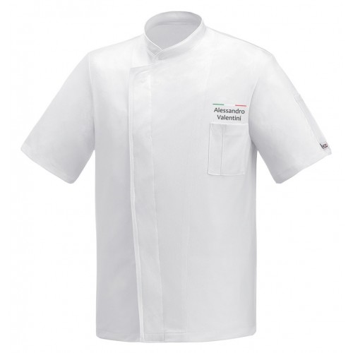 Giacca Cuoco White Air Plus Chef Italia M/Corte