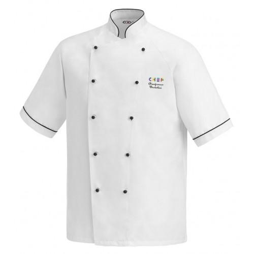 Giacca Cuoco Lino Microfibra Expo Chef M/Corte