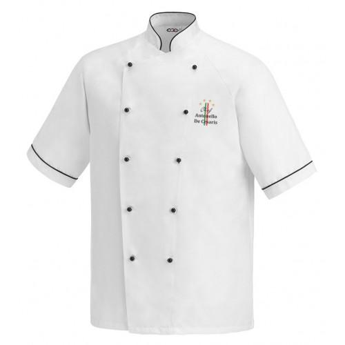 Giacca Cuoco Lino Microfibra 4 Stelle M/Corte