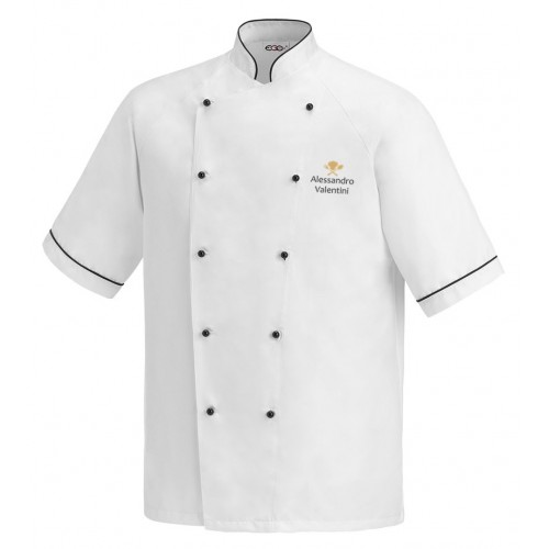Giacca Cuoco Lino Microfibra Simbolo M/Corte