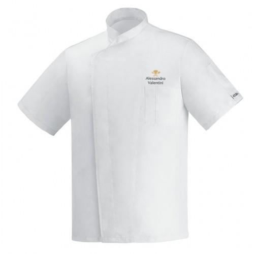 Giacca Cuoco Ottavio Bianco Ultraleggera Simbolo M/Corte