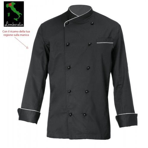 Giacca Cuoco Brasile Nero Casa Italia