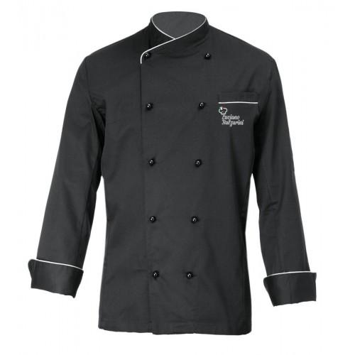 Giacca Cuoco Brasile Nero Chef per Passione