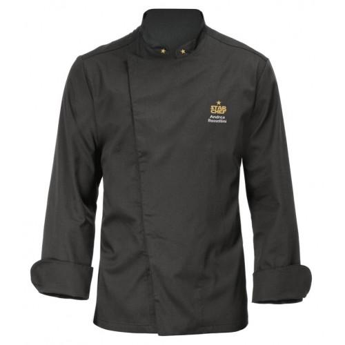 Giacca Cuoco Mirko Nera Star Chef