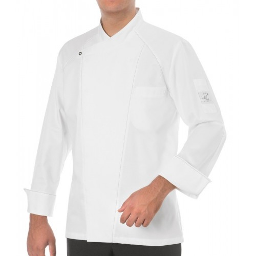 Giacca Cuoco John Satin Bianca