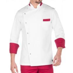 Giacca Cuoco Islanda Bianco/Rubino