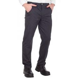 Pantalone Cuoco Canada Gessato Elasticizzato