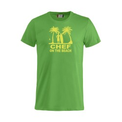 T-Shirt Chef On The Beach Verde Acido