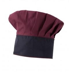 Cappello Cuoco Stretch Bordeaux-Blu