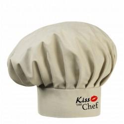 Cappello Cuoco Sabbia Melange Kiss The Chef