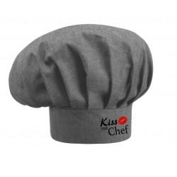 Cappello Cuoco Grigio Melange Kiss The Chef