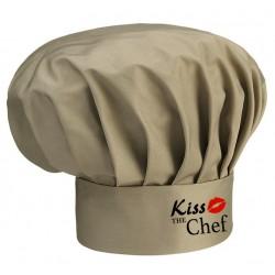 Cappello Cuoco Kaki Melange Kiss The Chef