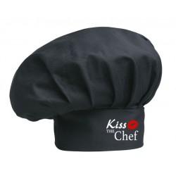 Cappello Cuoco Nero Kiss The Chef