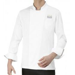 Giacca Cuoco Gianluigi Bianca Chef Stelle