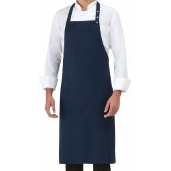 Grembiule Cuoco Pettorina Regolabile Blu