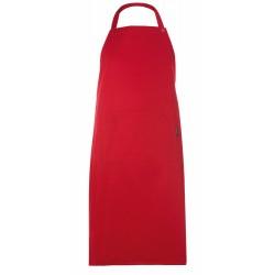 Grembiule Cuoco Pettorina Regolabile Rosso