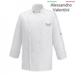 Giacca Cuoco Chef Italia Microfibra Bianca