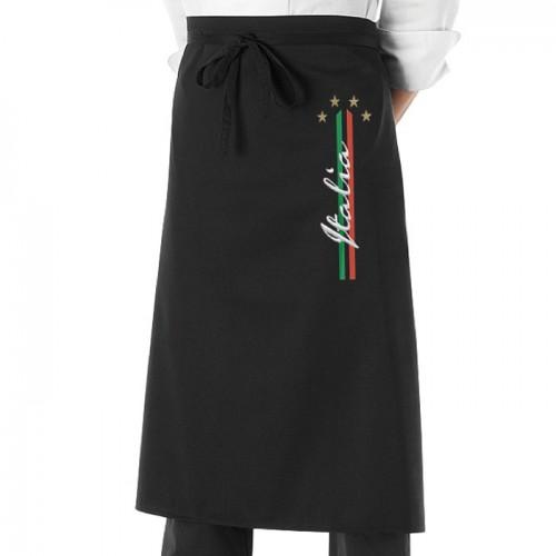 Grembiule Cuoco 4 Stelle Nero