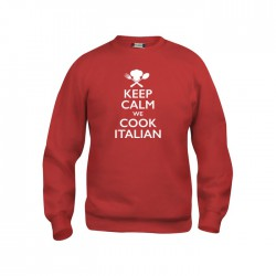 Felpa Girocollo Keep Calm Rossa