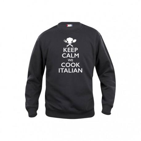 Felpa Girocollo Keep Calm Nera