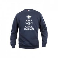 Felpa Girocollo Keep Calm Blu
