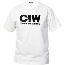 T-Shirt Manica Corta Chef in White