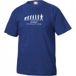 T-Shirt Manica Corta Chef Evolution Blu