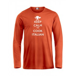 T-Shirt Manica Lunga Keep Calm Arancio