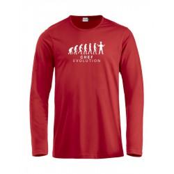 T-Shirt Manica Lunga Chef Evolution Rossa