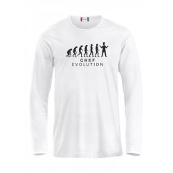 T-Shirt Manica Lunga Chef Evolution Bianca
