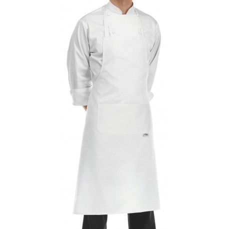 Grembiule Cuoco Pettorina Bianco