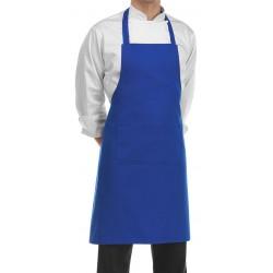 Grembiule Cuoco Pettorina Azzurro