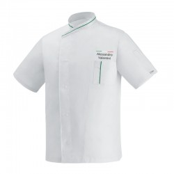 Giacca Cuoco Microtec Chef Italia M/Corte
