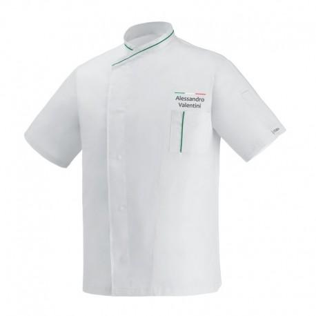 Giacca Cuoco White Eco Chef Italia M/Corte